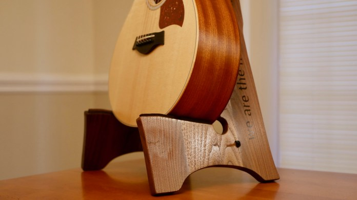 How To Build A Diy Wooden Guitar Stand Free Template 12 Steps With Pictures Instructables
