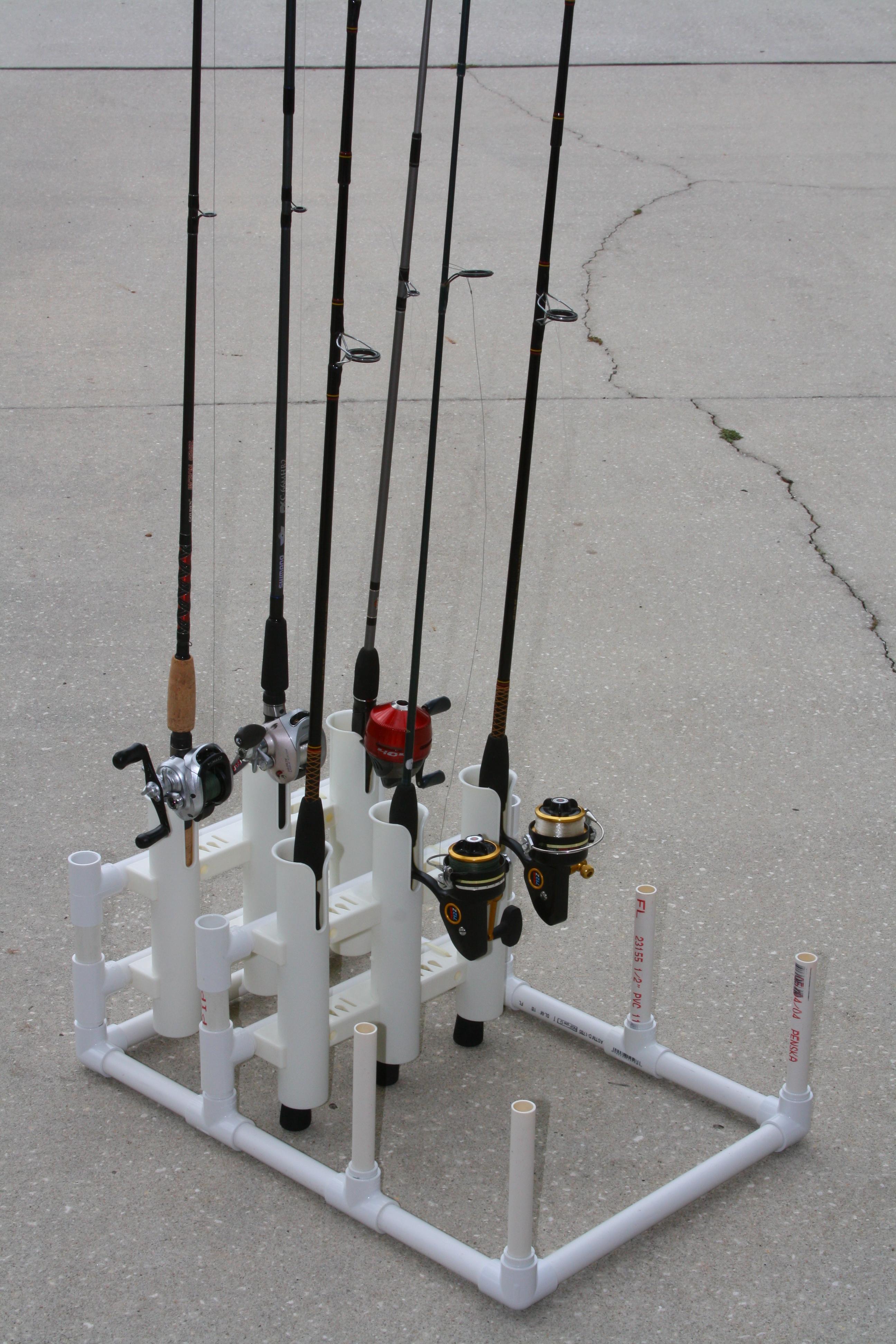 pvc modular fishing rod holder 6