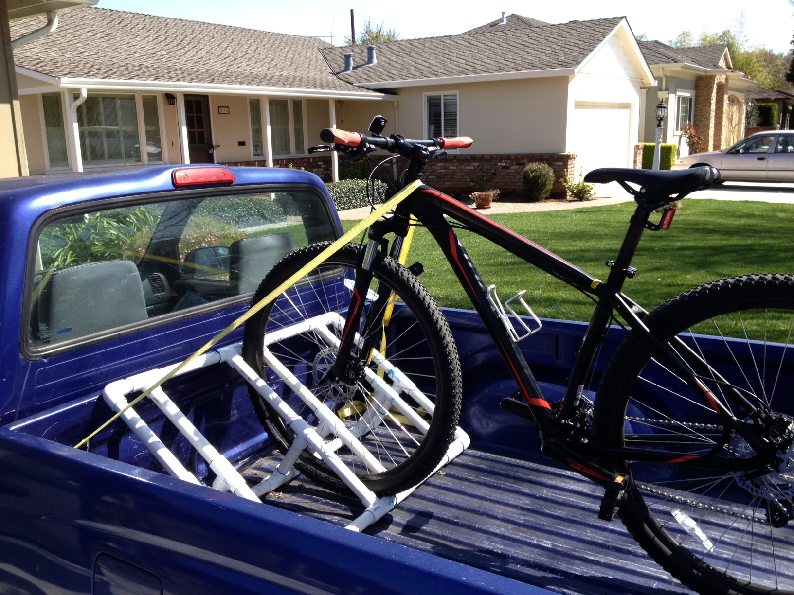 truckbed pvc bike rack 9 steps with