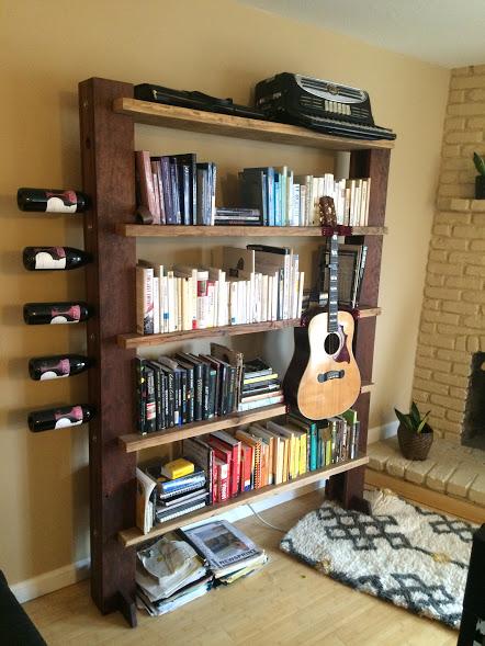 bookcase wine rack guitar holder 8