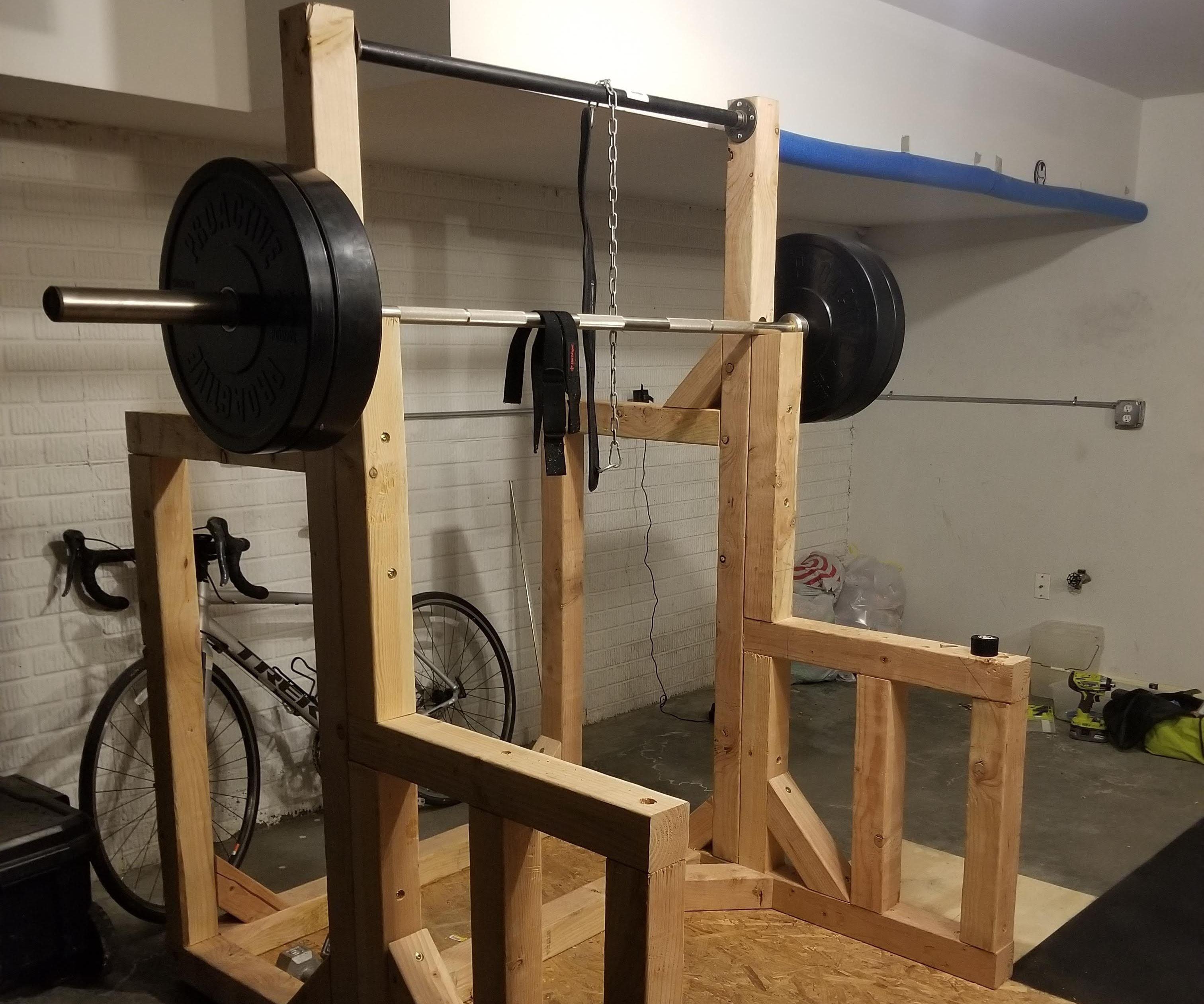 diy squat rack pull up bar 7 steps