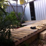 Wood Pallet Backyard Deck 4 Steps With Pictures Instructables