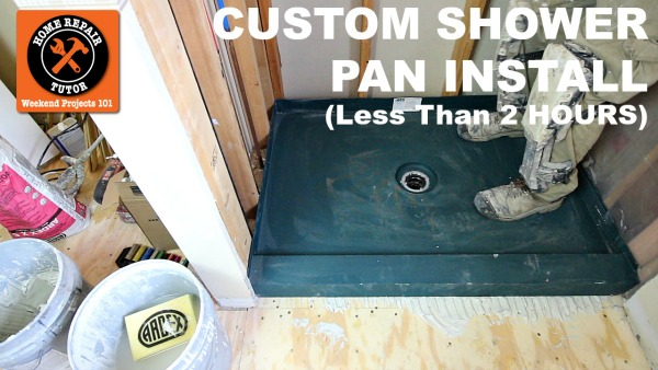 how to install custom shower pans in