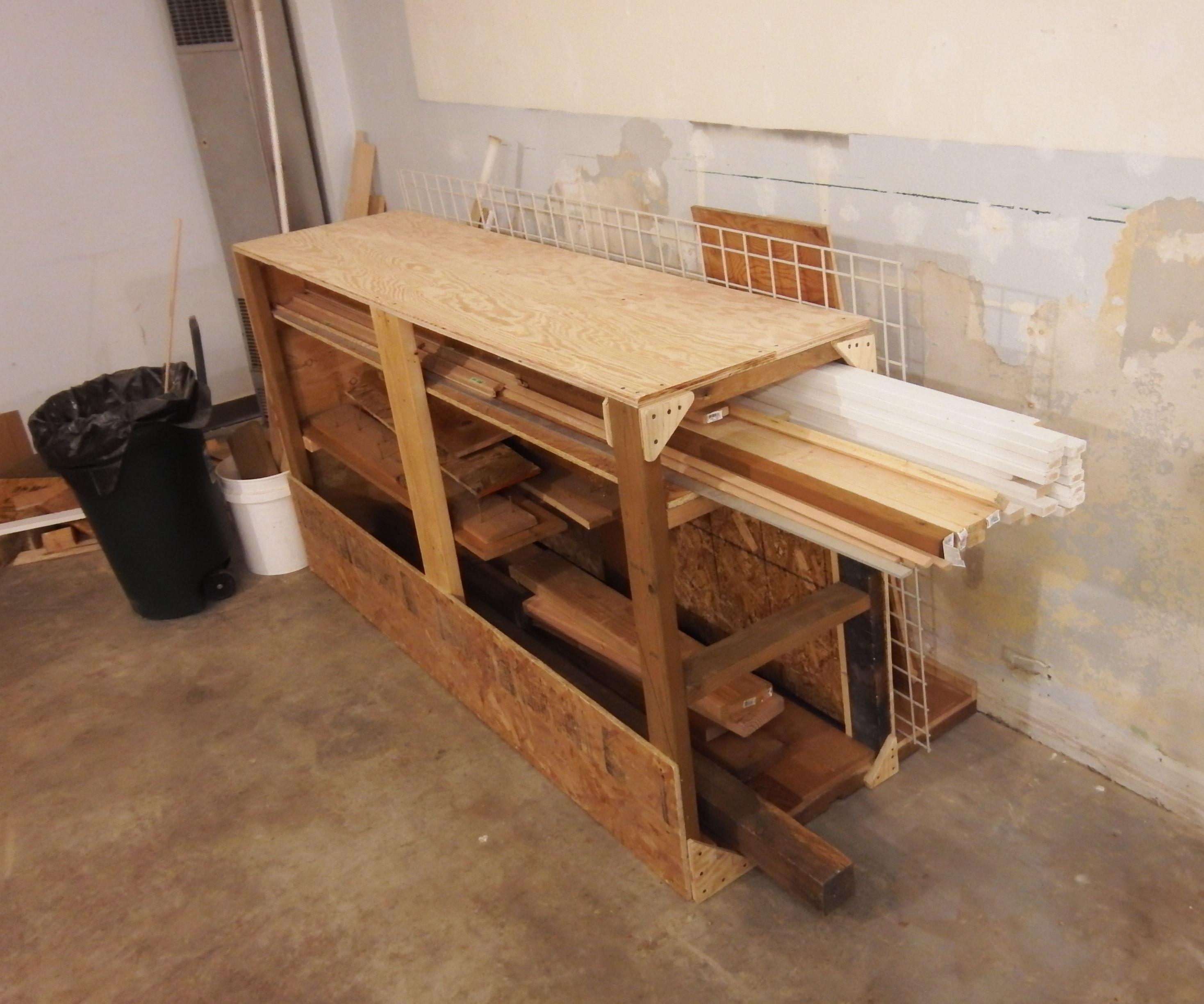 lumber storage rack made from scrap 3