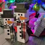 Rustic Wood Snowmen From A 4x4 Post 7 Steps Instructables