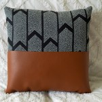 Fabric Faux Leather Throw Pillows 19 Steps With Pictures Instructables