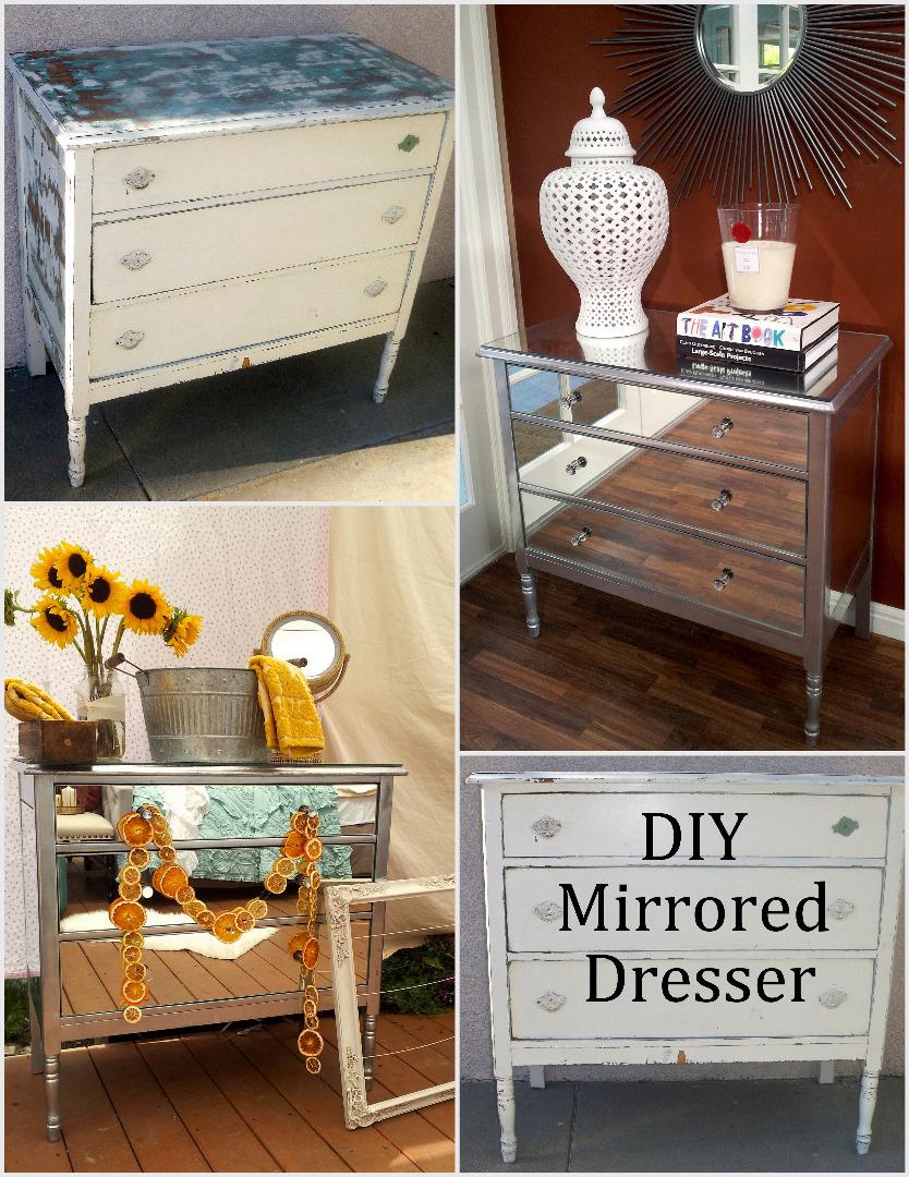 diy mirrored dresser 7 steps with