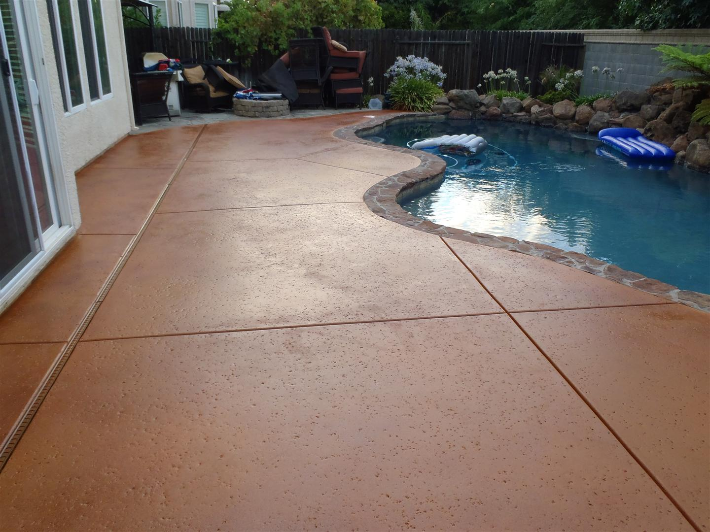 how to apply multi color concrete stain