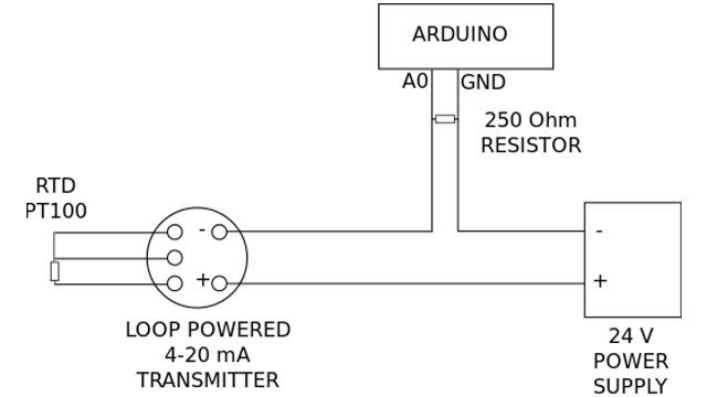 arduino temperature measurement with rtd pt100 420ma