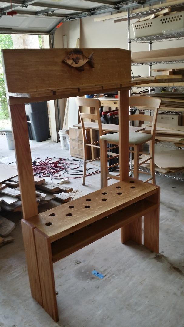 mighty oak fishing pole rack 10 steps