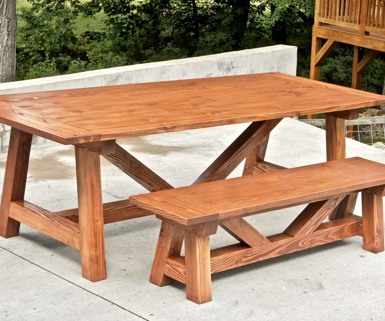 How To Build A Farmhouse Table And Benches For 250 Woodworking Diy 10 Steps With Pictures Instructables