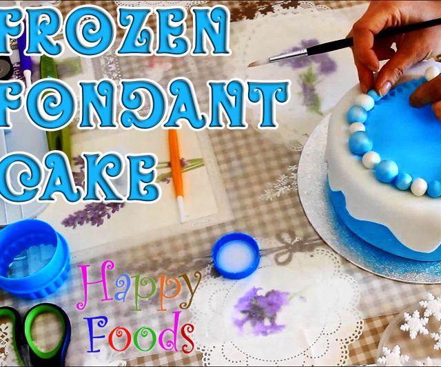 How to Make a Disney Frozen Fondant Icing Cake - Instructables