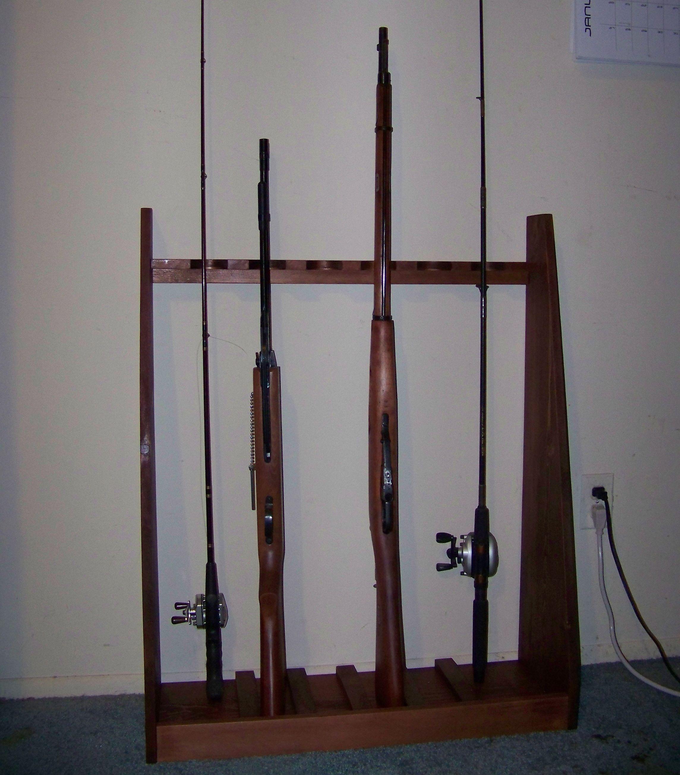 standing gunrack 5 steps instructables
