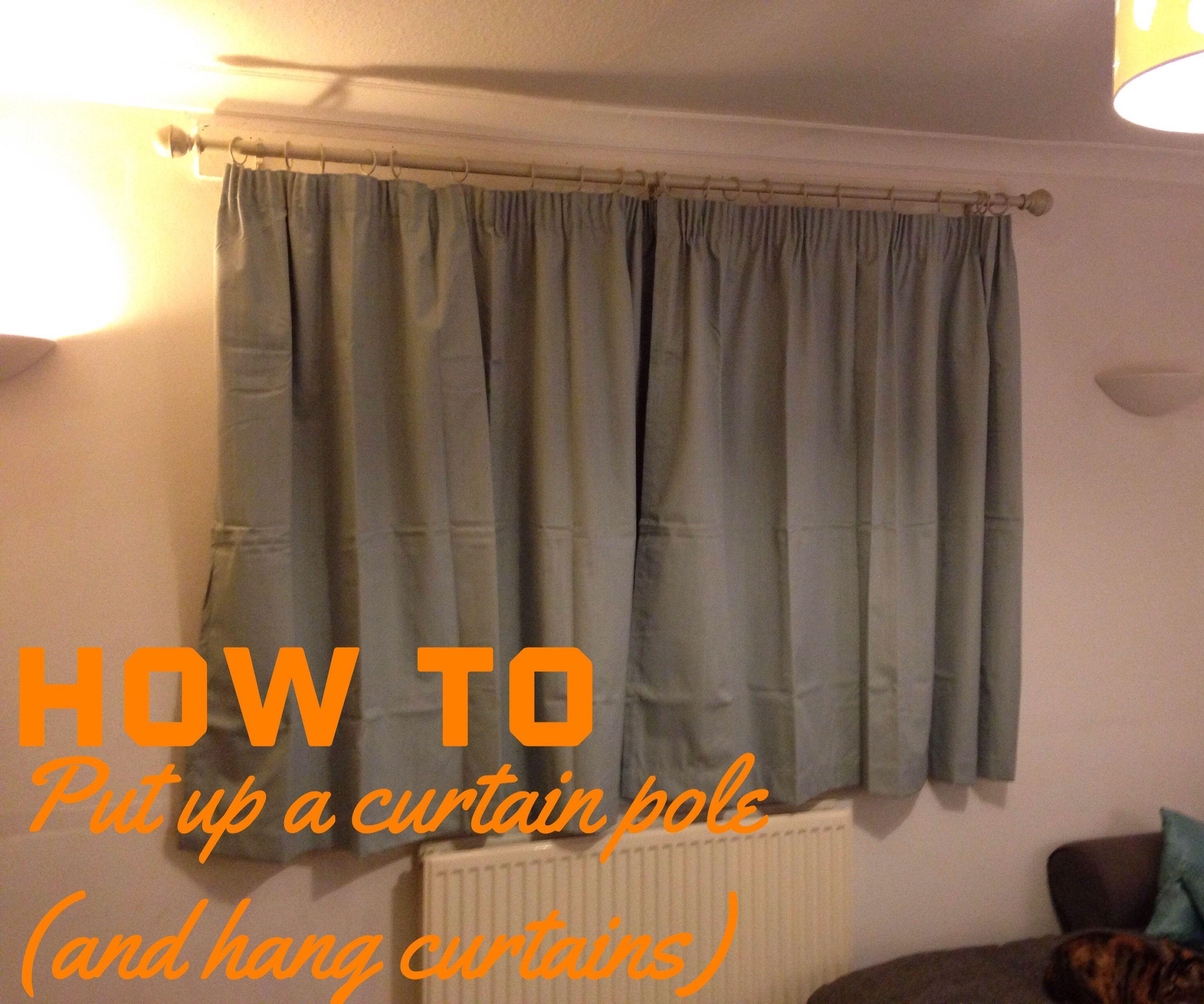 how to put up a curtain pole 9 steps