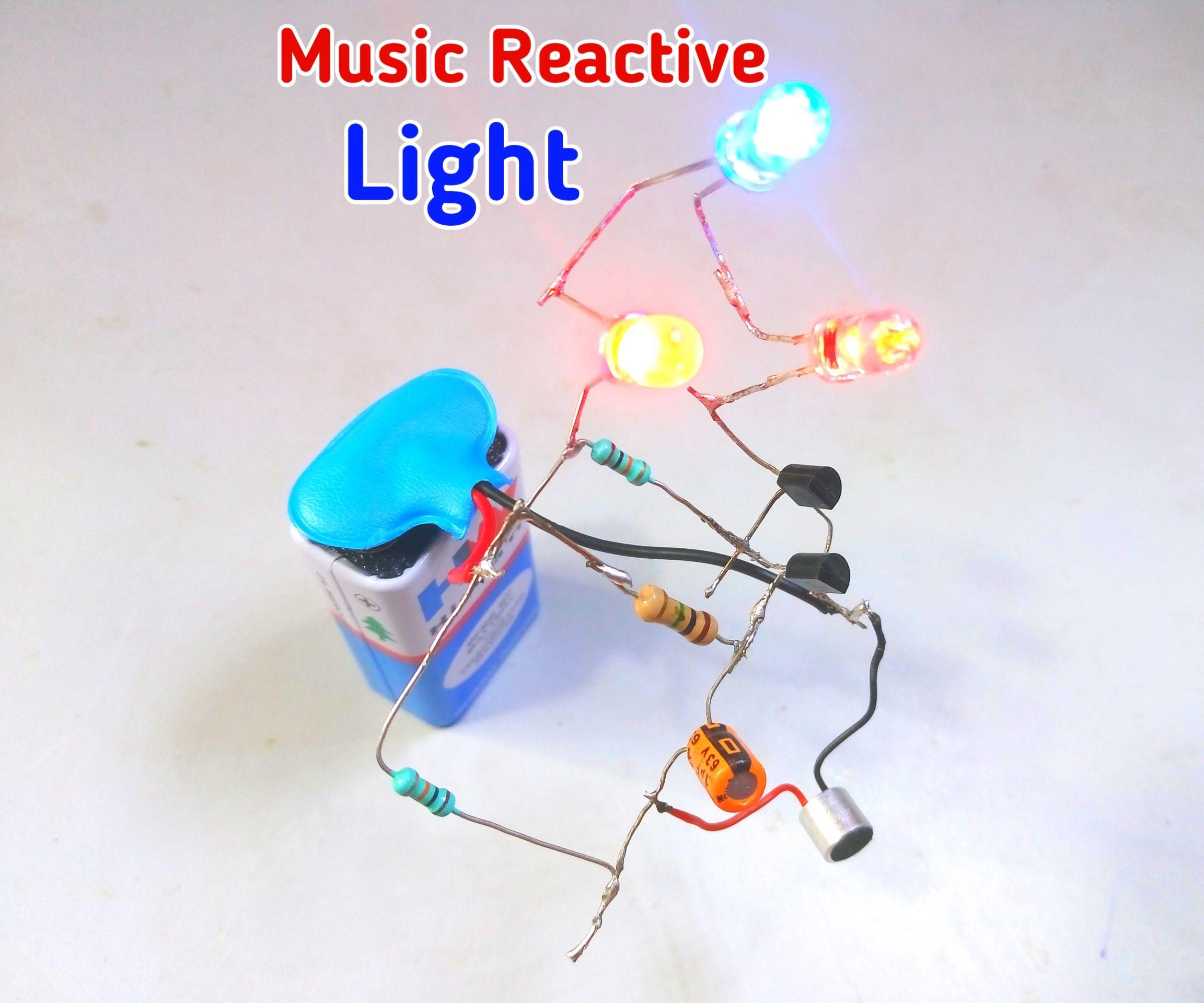 music reactive light using bc547