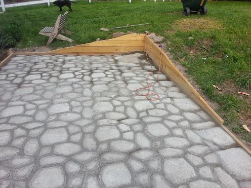 form in place concrete paver patio 6