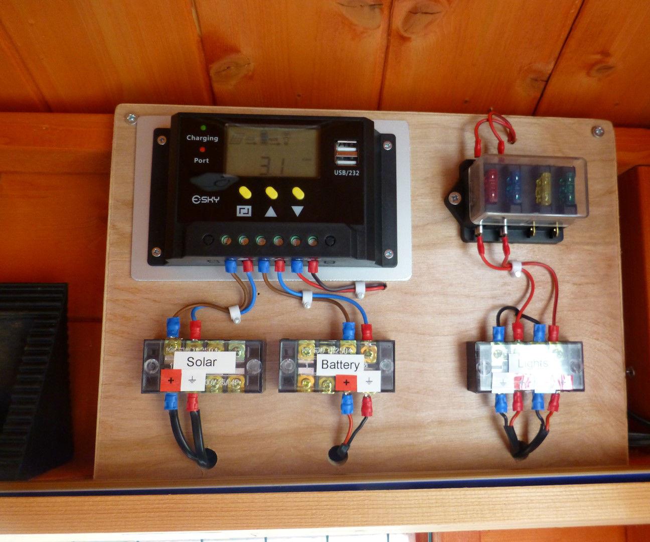 shed 12v solar lighting system 5