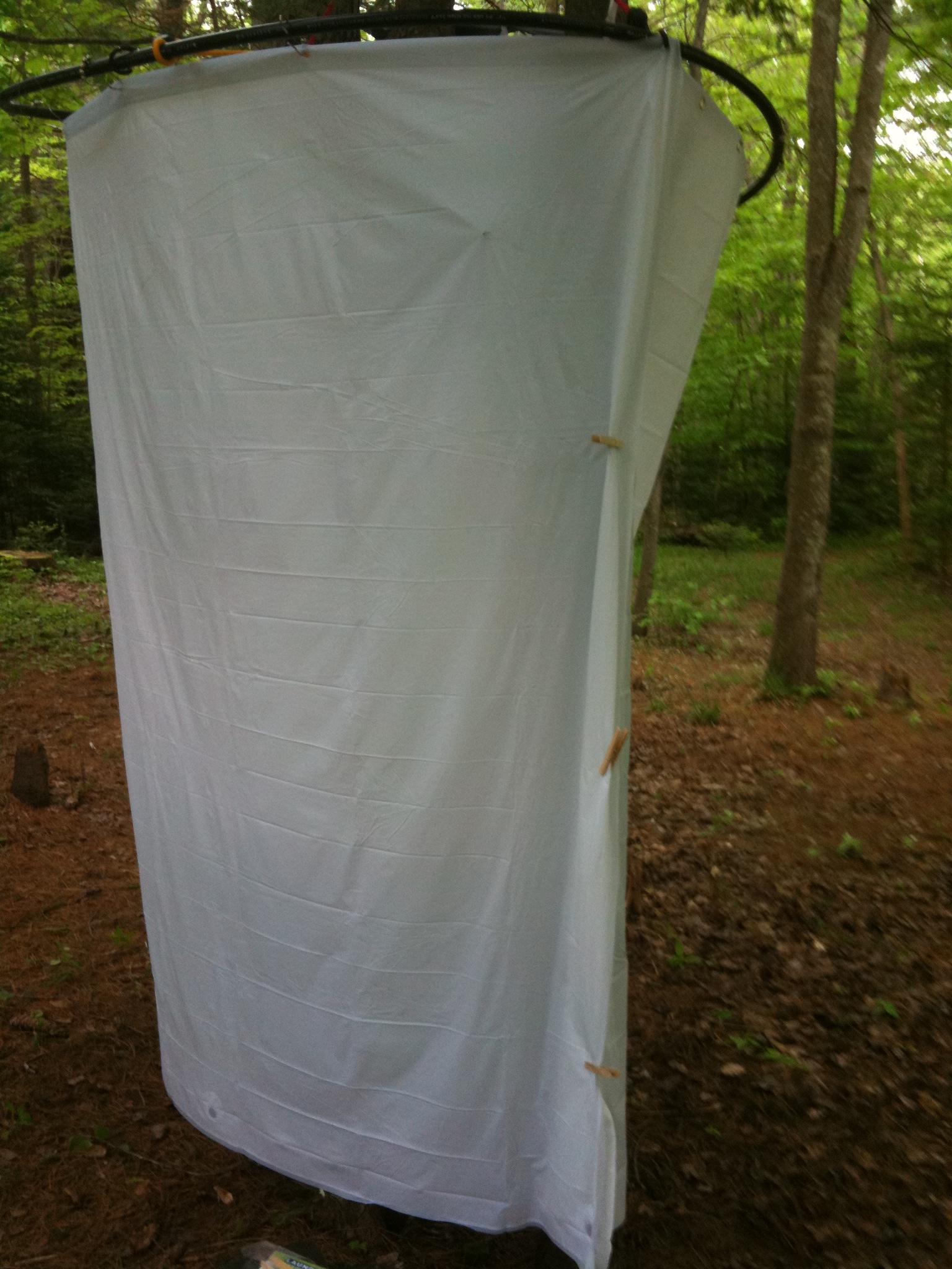 diy camp shower enclosure 3 steps