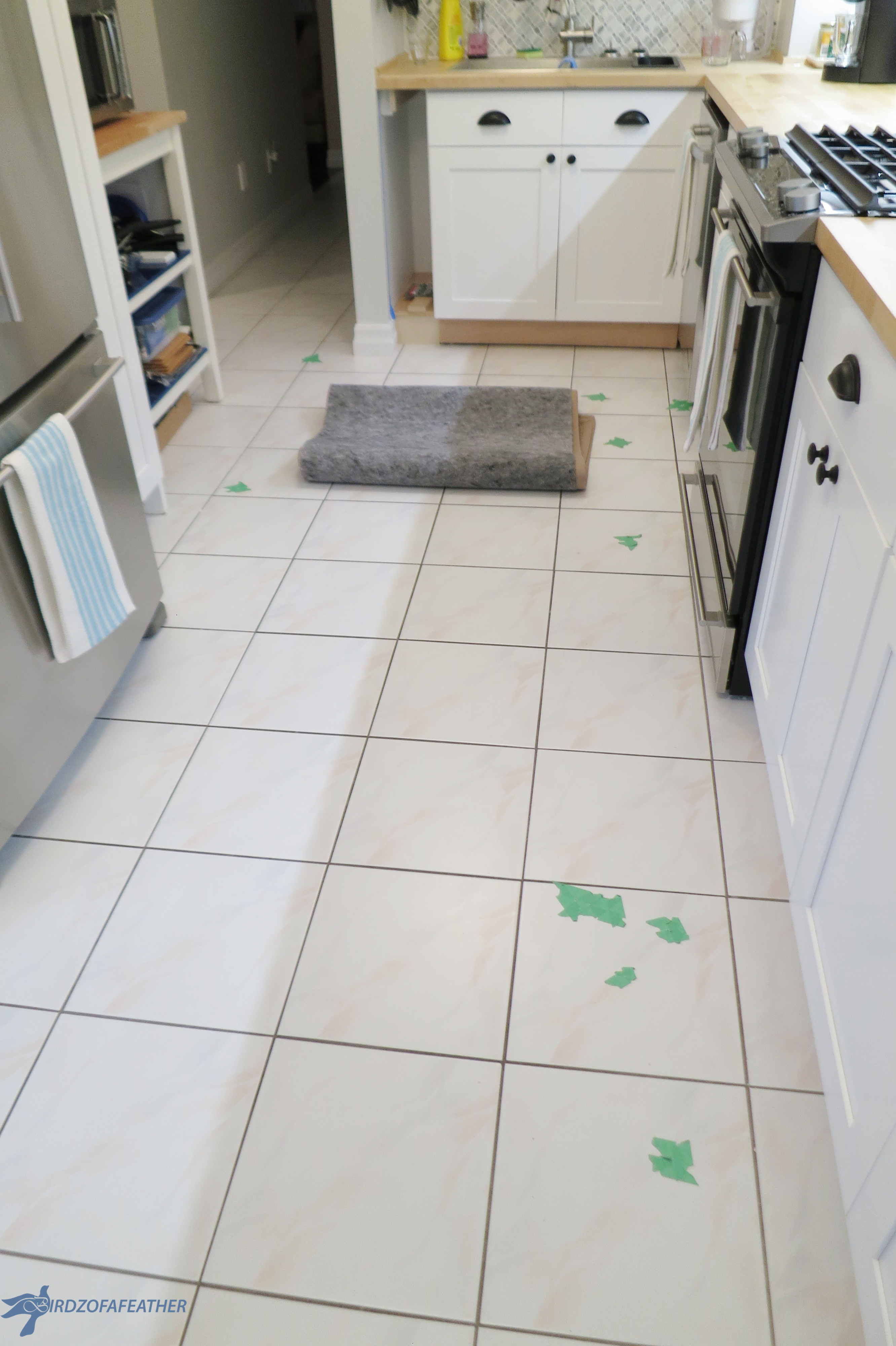 got chipped floor tile try this fix