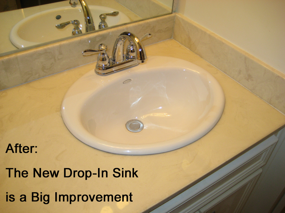 replace the sink in a cultured marble