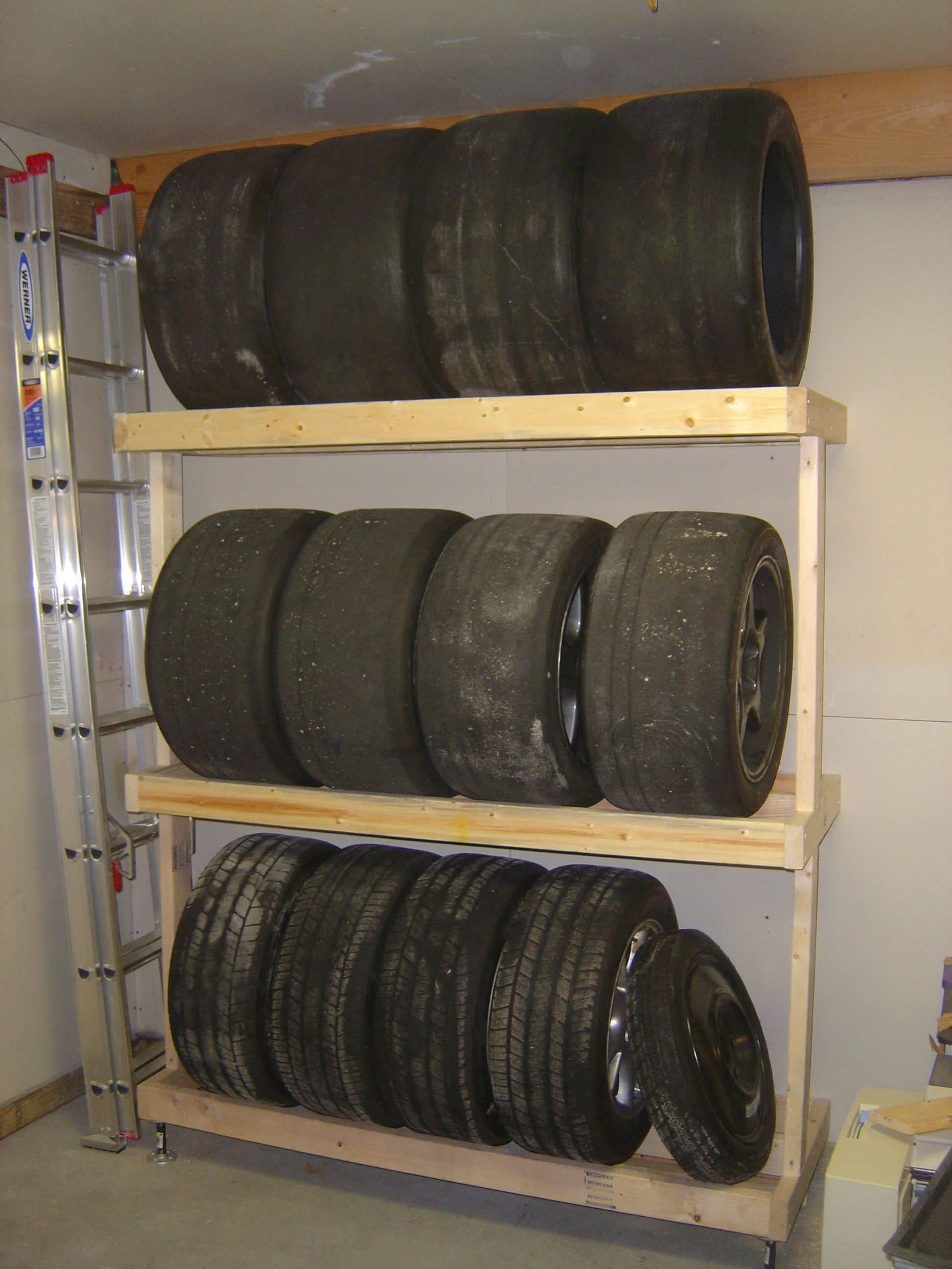 how to build a tire rack 6 steps