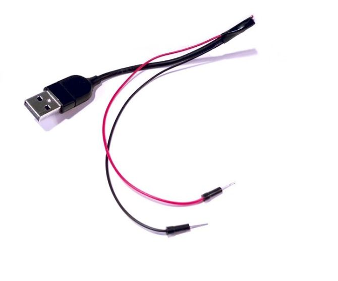 provide power with an old usb cord  4 steps with pictures