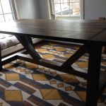 Rustic Farmhouse Style Dining Table 4 Steps Instructables