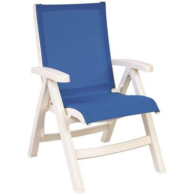 belize white mid back folding outdoor