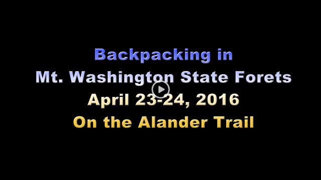 Backpacking 4-23-16