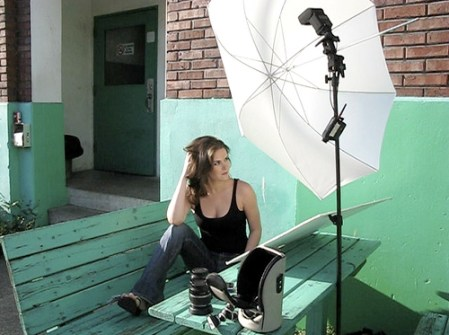 How to create soft light using diffusion &reflection @ MostlyLisa.com