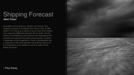The Shipping Forecast – an audio visual slideshow by Mark Power