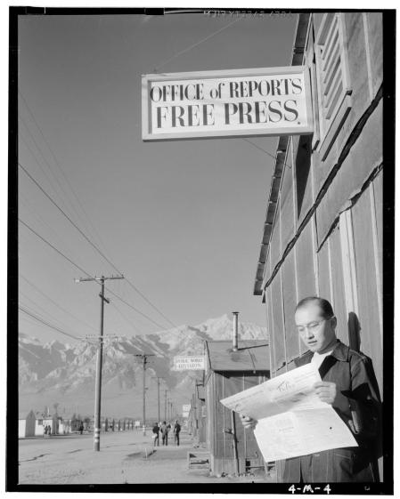 Ansel Adams, photojournalist – photos of the Japanese internment camp in Manzanar, California during WW2