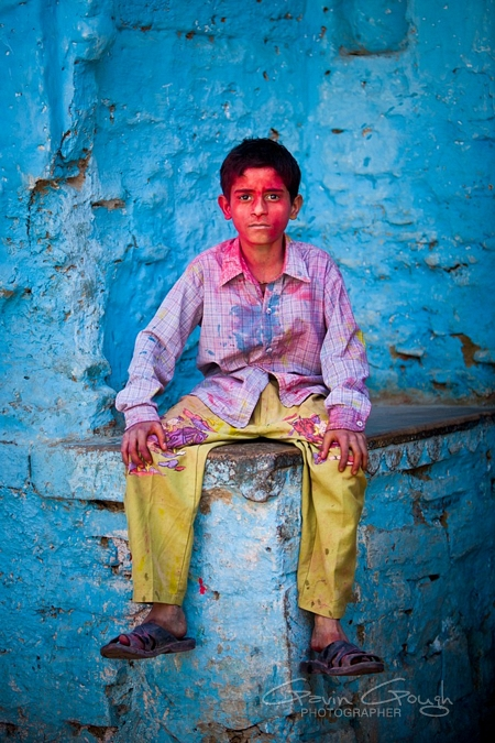 Colourful images from Holi festivals in northern India – travel photography by Gavin Gough