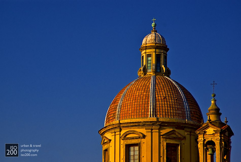 The dome of San Frediano in Cestello, Florence at dusk