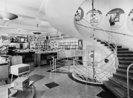 Inside the Oxford Street HMV Store in the Sixties