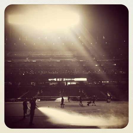 Instagram photos from the Reds-Giants baseball playoffs