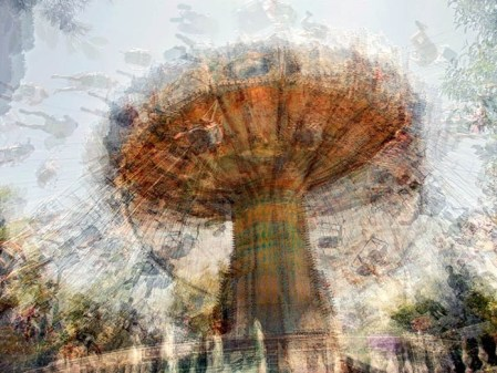 A Carousel's Memory – Stacked exposures of fair ground rides