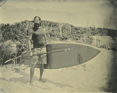 SurfLand is a series of surfers shot using a wet-plate collodion process