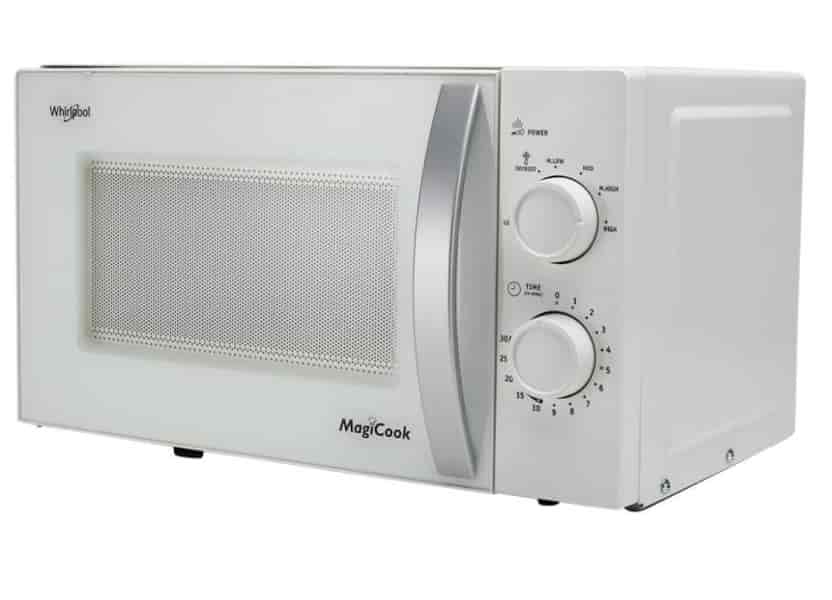 whirlpool magicook 20l classic knob 20 litres solo microwave oven white