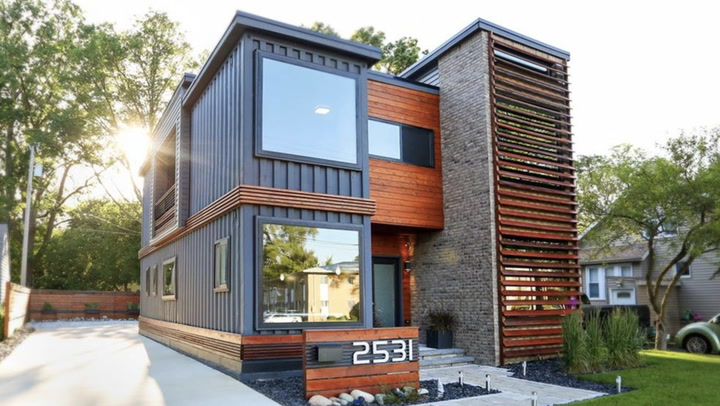 Video: This Modern Shipping Container Home Is Attracting
