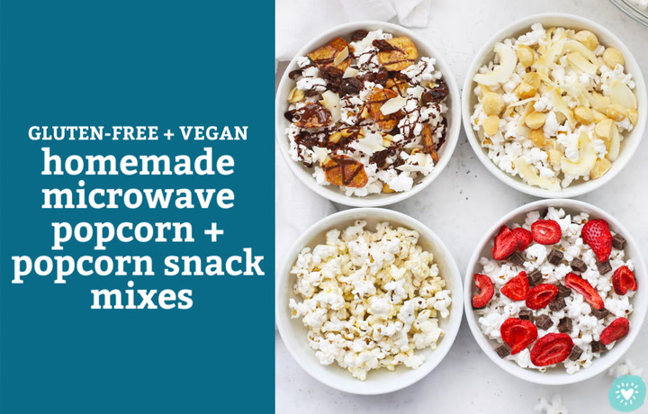 how to make homemade microwave popcorn popcorn snack mixes