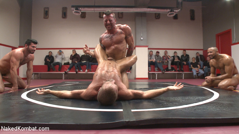 Muscle on Muscle: Live Tag Team Oil Match Between 4 Ripped Hunks! - tag team
