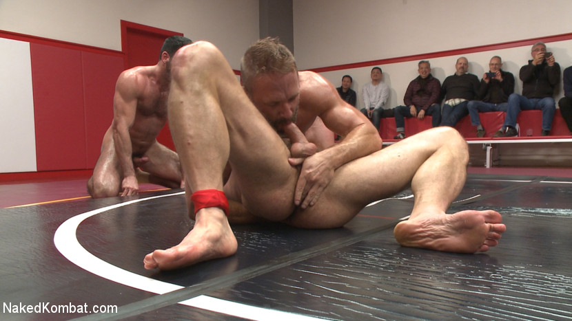 Muscle on Muscle: Live Tag Team Oil Match Between 4 Ripped Hunks! - Naked Kombat