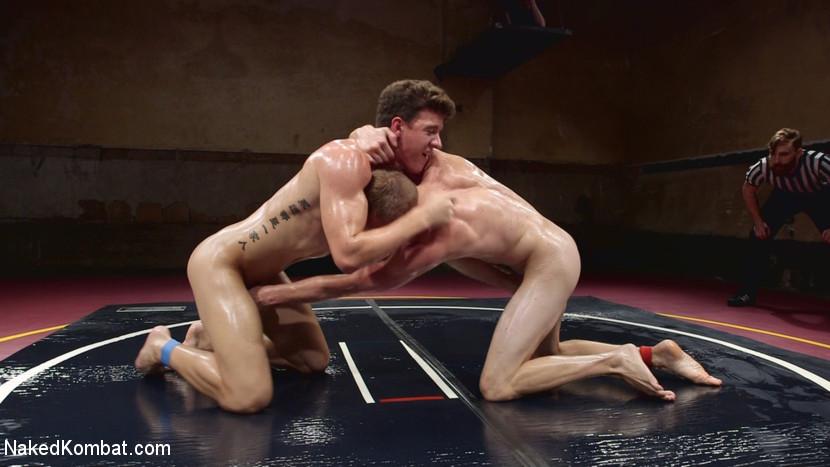Southern Boys with Giant Cocks Wrasslin' in Oil: JJ Knight vs Zane Anders - rimming