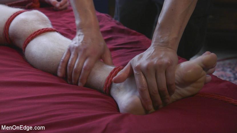 Men-on-Edgers Sebastian and Jackson Get Edged! - rope bondage
