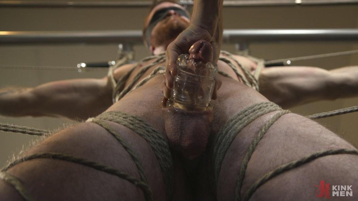 Ginger Muscle God Tormented and Edged in Bondage - rope bondage