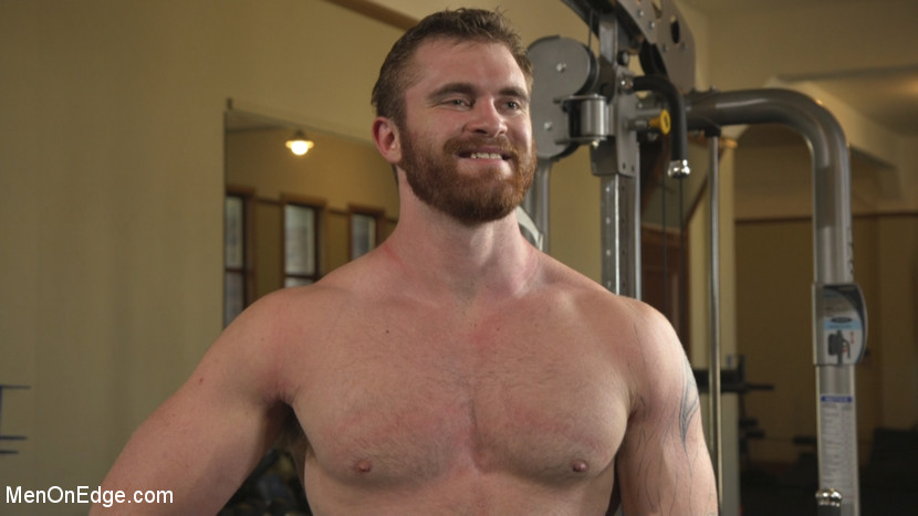 Ginger Muscle God Tormented and Edged in Bondage -