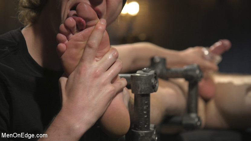 Edging the Captive Straight Boy - Male Sub