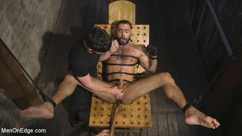 Leather Hunk Edged in Chains - Edging
