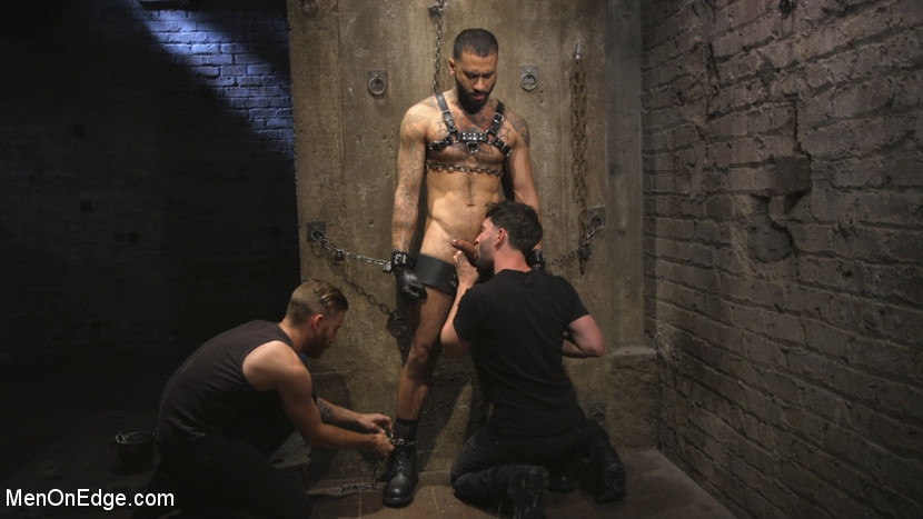 Leather Hunk Edged in Chains - leather